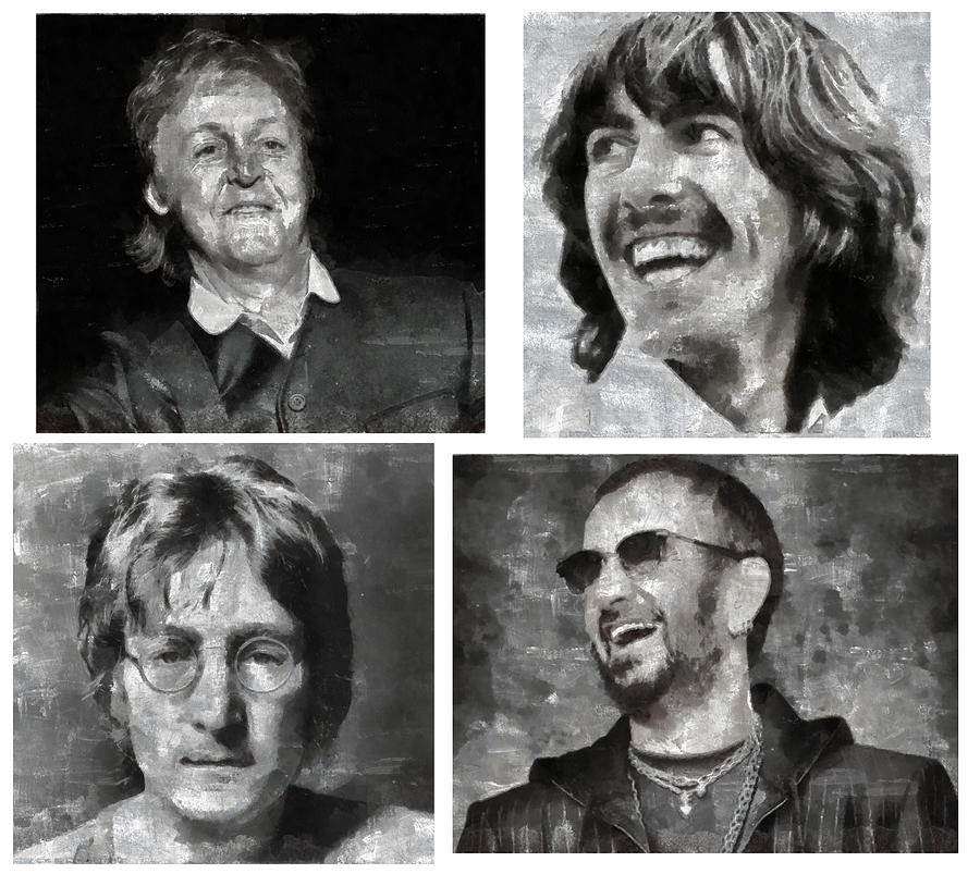 Beatles Digital Art  - Beatles Fine Art Print