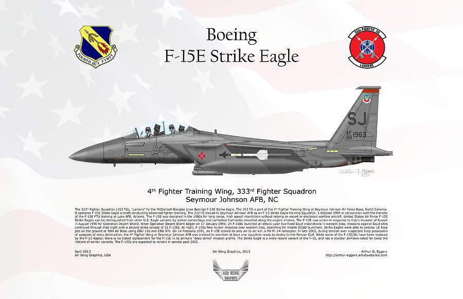 Boeing F-15e Strike Eagle Digital Art