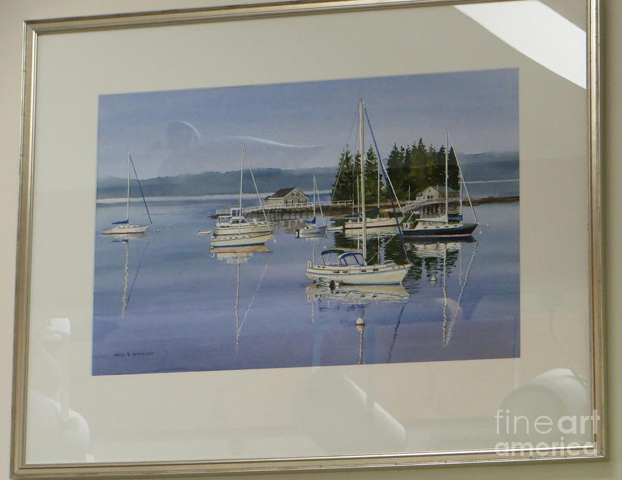 Boothbay Harbor Reflections Painting
