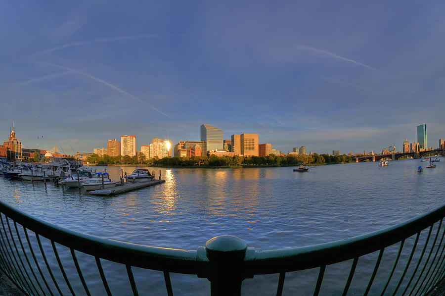 Boston Skyline From Memorial Drive Photograph