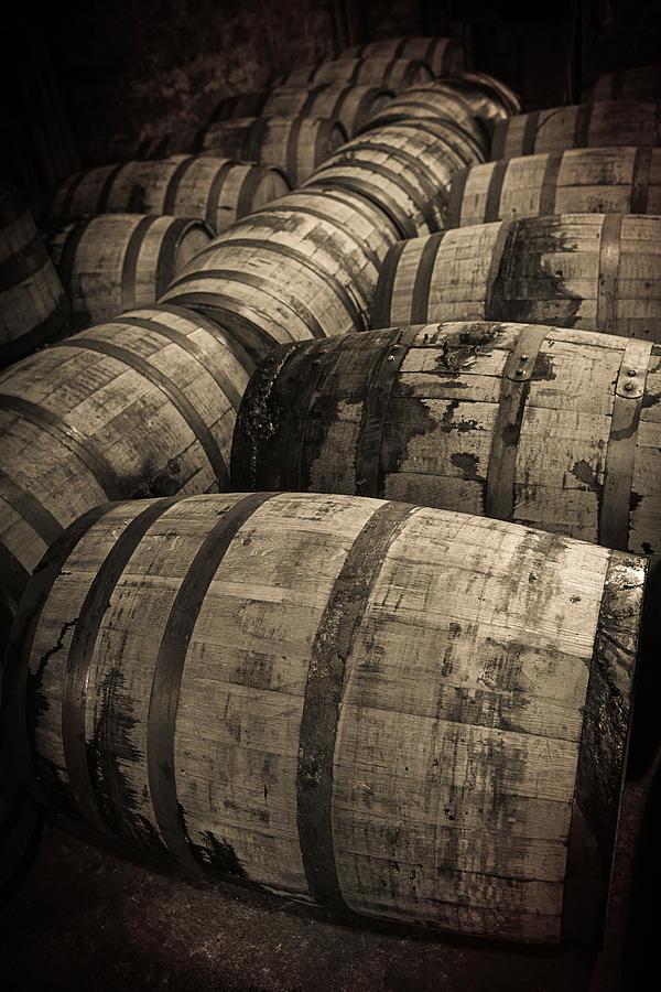 Bourbon Barrels Photograph - Bourbon Barrels by Karen Zucal Varnas