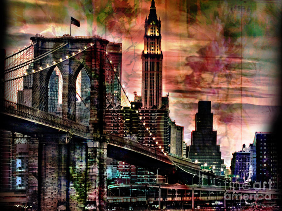 Brooklyn Bridge Mixed Media - Brooklyn Bridge by Christine Mayfield
