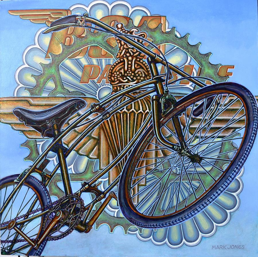 Bicycle Painting - Bsa Parabike by Mark Howard Jones