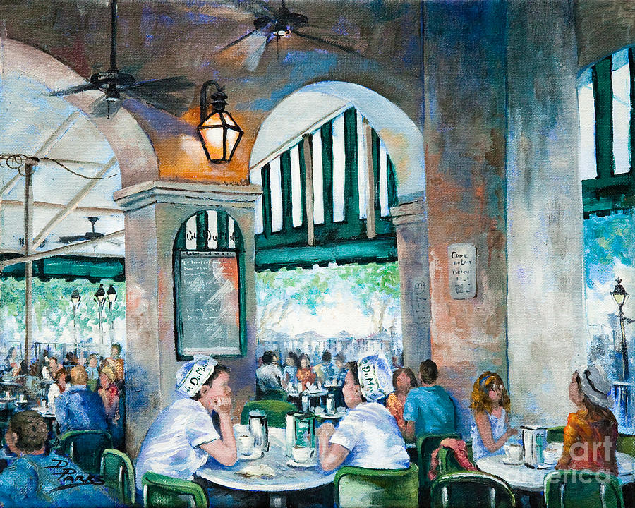Cafe Girls Painting