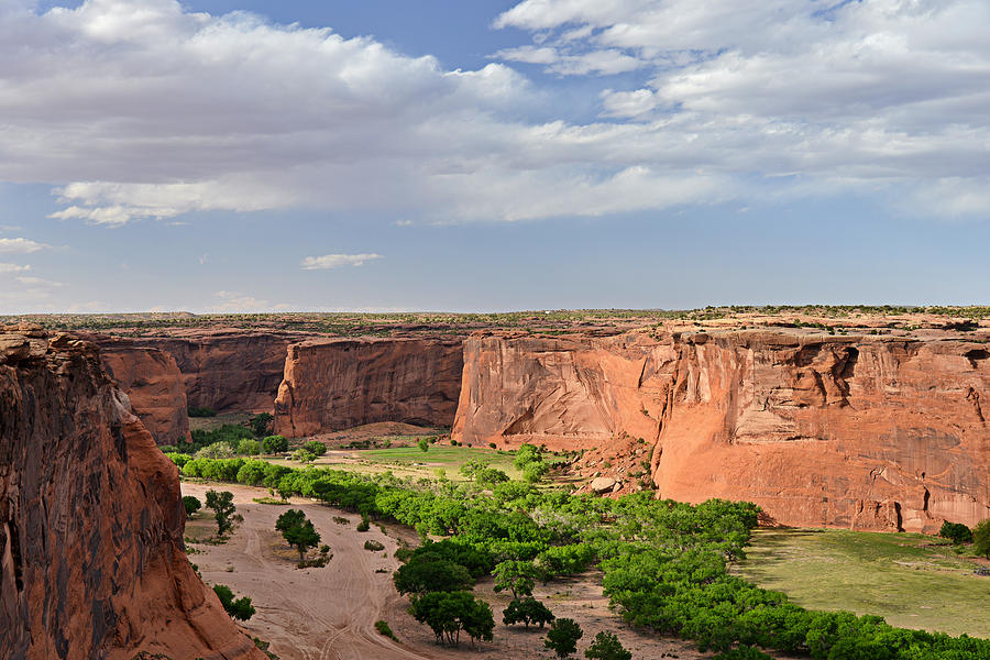 Canyon De Chelly From Sliding House Overlook Photograph  - Canyon De Chelly From Sliding House Overlook Fine Art Print