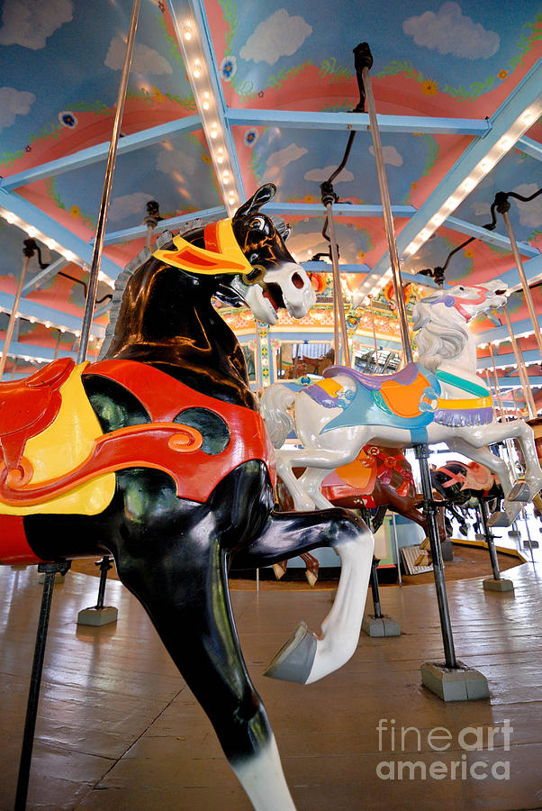 Carousel At Kennywood Park Pittsburgh Pennsylvania Photograph  - Carousel At Kennywood Park Pittsburgh Pennsylvania Fine Art Print