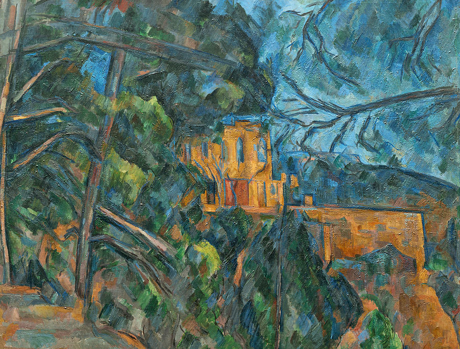 Blue Painting - Chateau Noir by Paul Cezanne