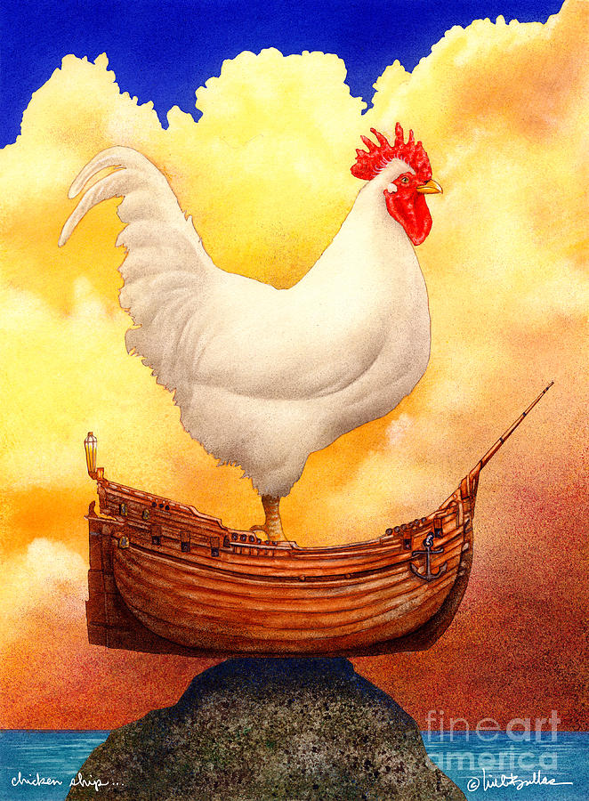 Will Bullas Painting - Chicken Ship... by Will Bullas