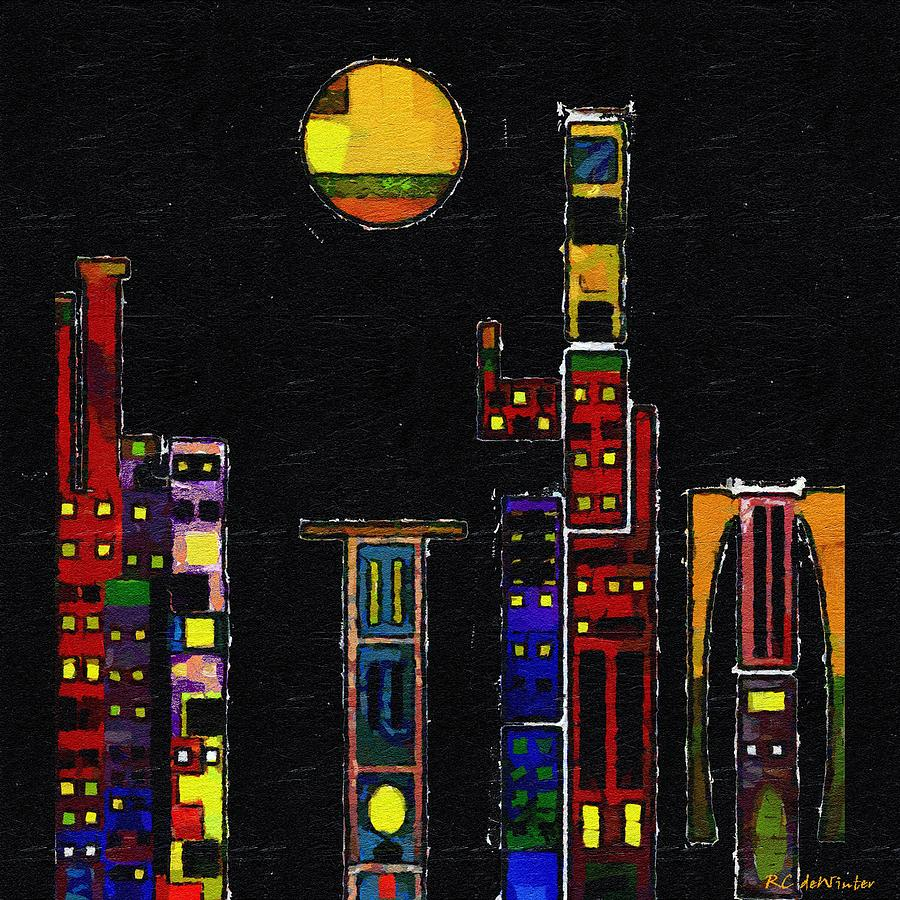 City Painting - Chinatown by RC deWinter