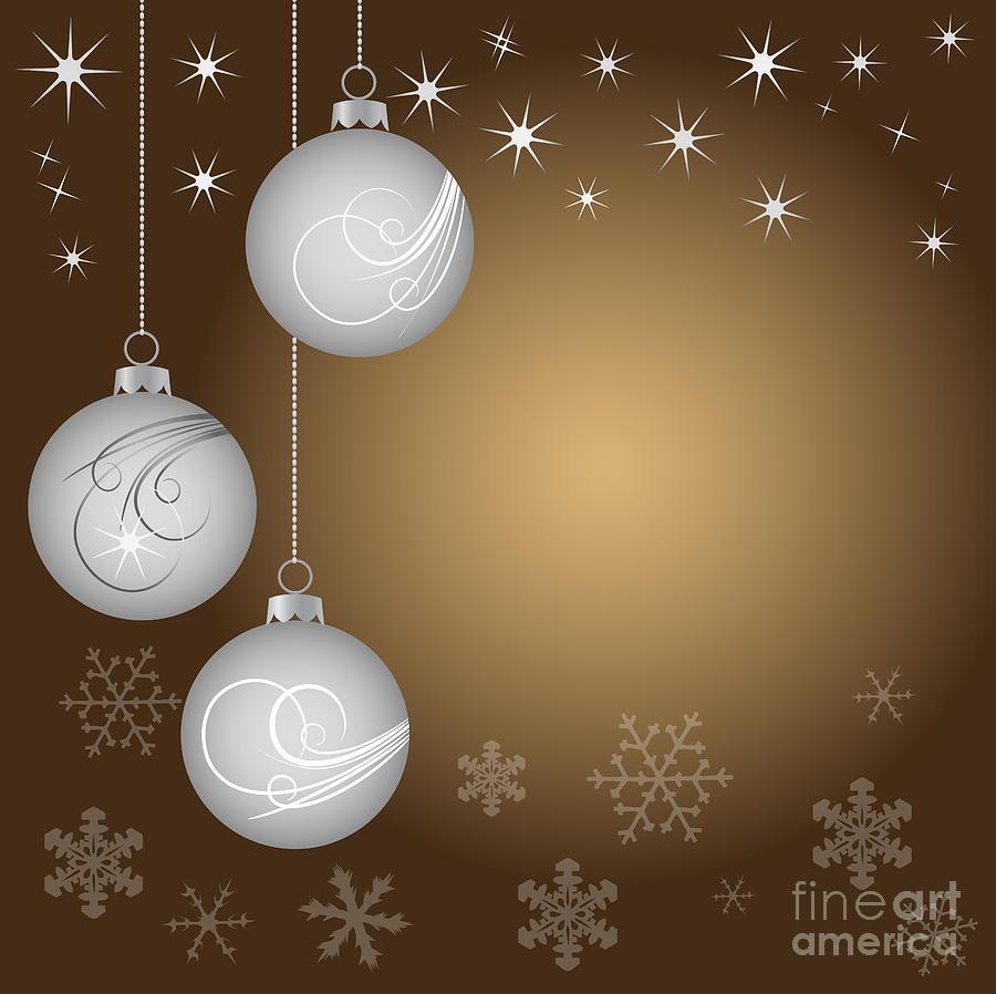 Vector Digital Art - Christmas Background by Michal Boubin