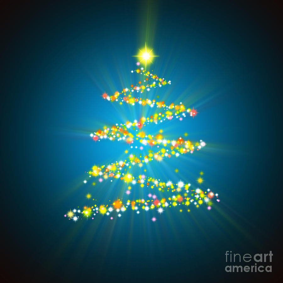 digital art christmas tree - photo #13
