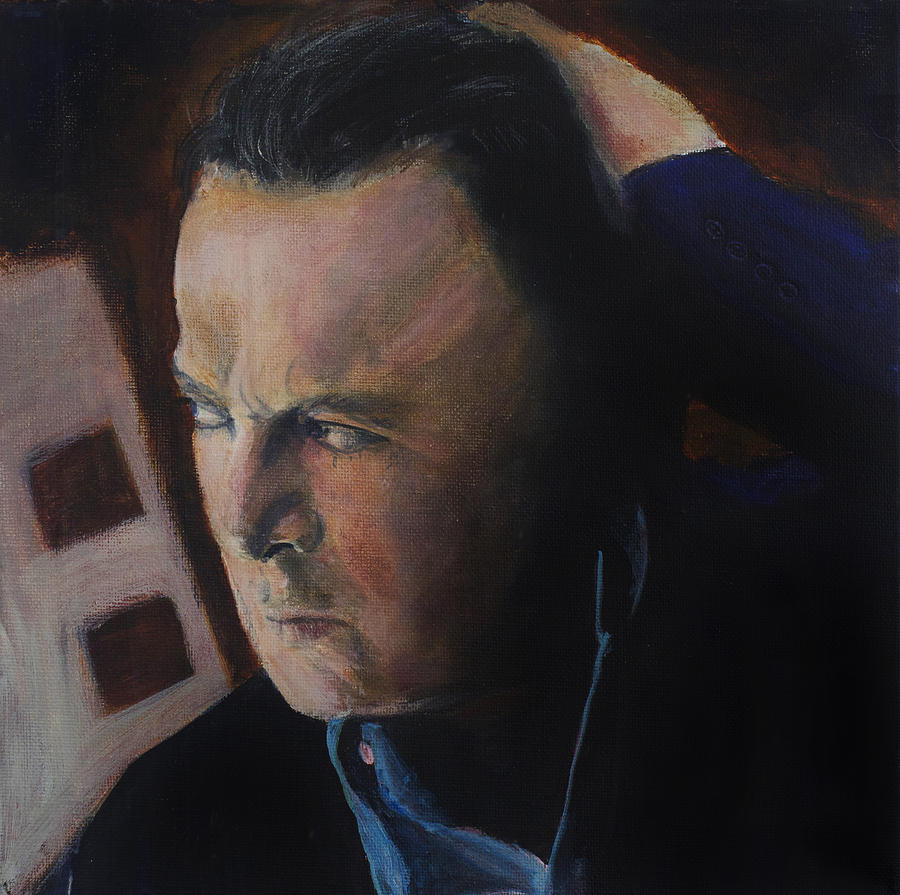 Christopher Hitchens Painting