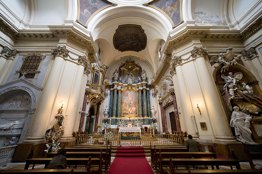 Church Of Santa Barbara Interior In Madrid Photograph