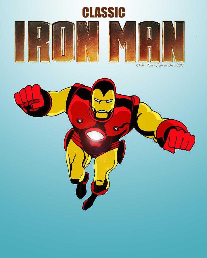 Classic Iron Man Drawing