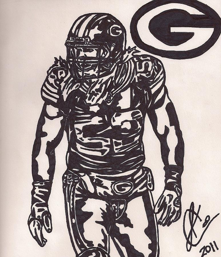 Clay Matthews Drawing  - Clay Matthews Fine Art Print
