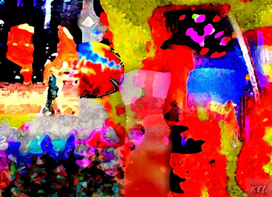 Abstract Art Digital Art - Colorful by Kelly McManus
