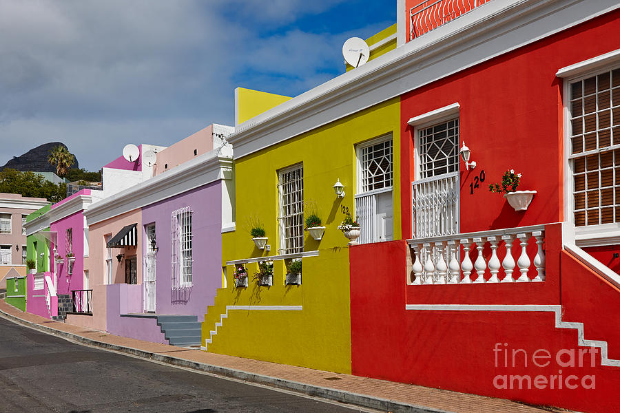 colourful buildings in Bo-Kaap Photograph  - colourful buildings in Bo-Kaap Fine Art Print