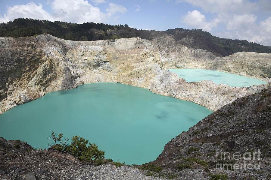 Colourful Crater Lakes Of Kelimutu Photograph