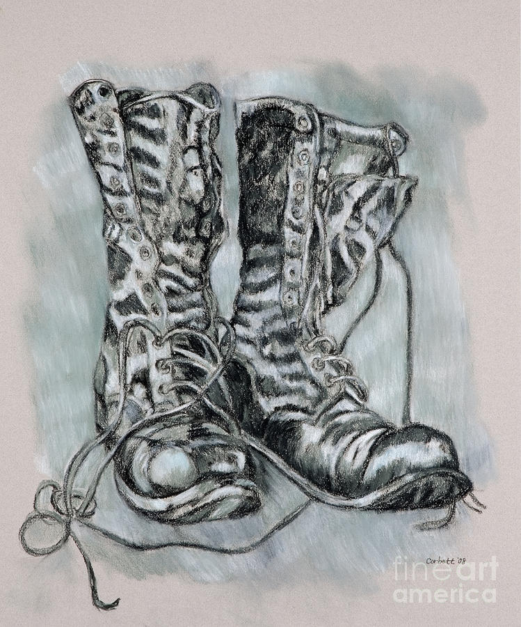 Combat Boots Drawing at PaintingValleycom  Explore