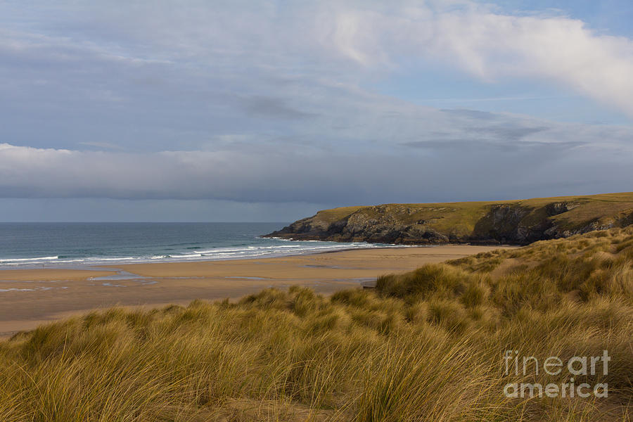 Cornish Seascape Holywell Bay Photograph  - Cornish Seascape Holywell Bay Fine Art Print