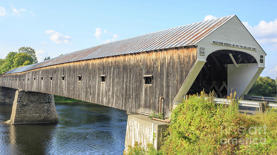 Cornish-windsor Covered Bridge  Photograph  - Cornish-windsor Covered Bridge  Fine Art Print
