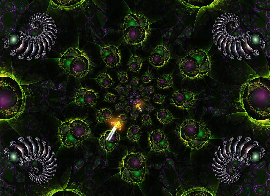 Cosmic Embryos Digital Art  - Cosmic Embryos Fine Art Print