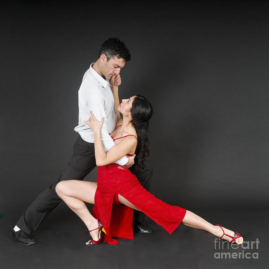 Couple Dances Tango  Photograph