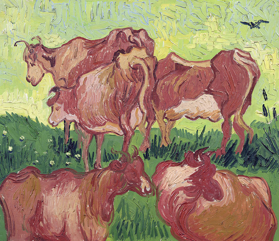 Cows Painting  - Cows Fine Art Print