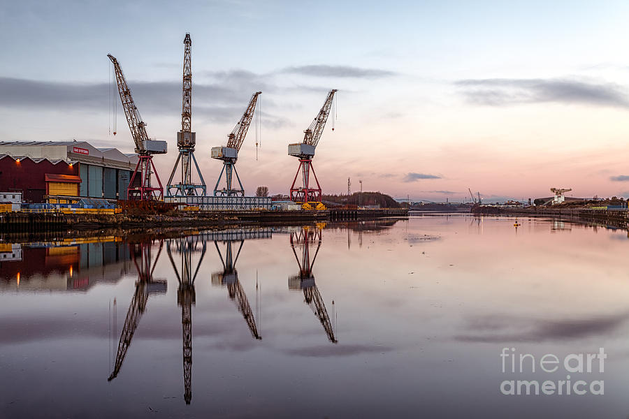 Cranes On The Clyde  Photograph  - Cranes On The Clyde  Fine Art Print