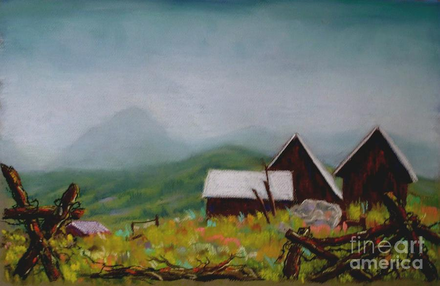 Crested Butte Barns Painting