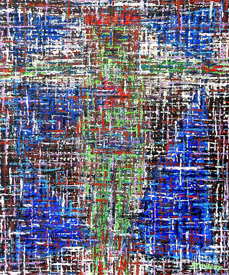 Cross 2 Painting  - Cross 2 Fine Art Print