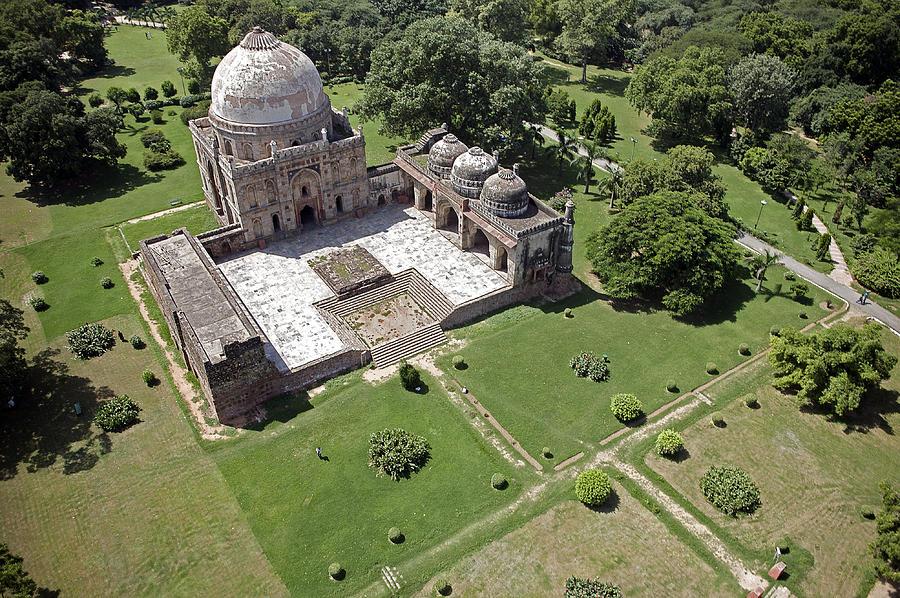 Delhi, Bara Gumbad Tomb And Mosque Photograph
