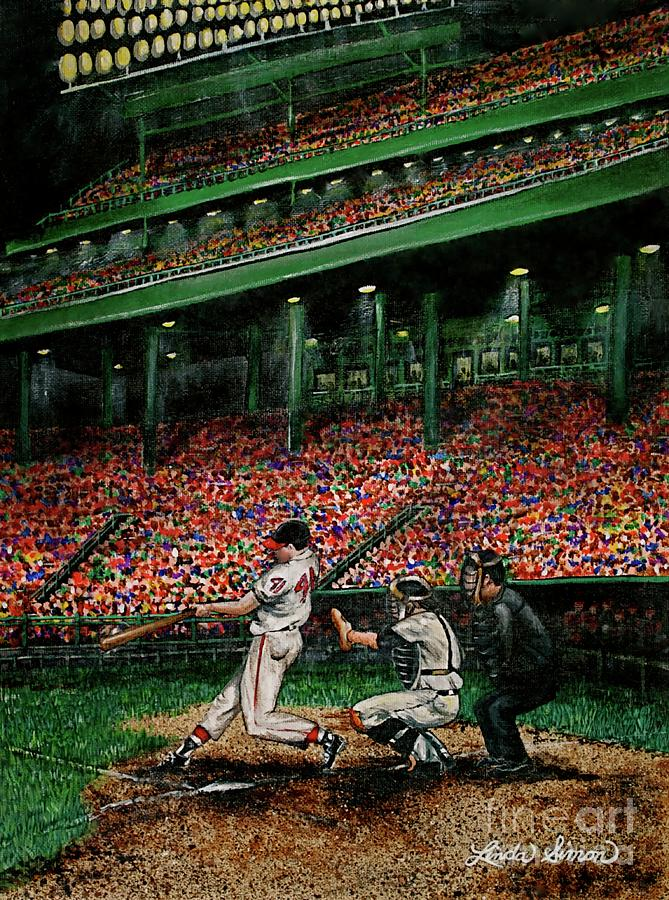 Derreks Homerun Painting  - Derreks Homerun Fine Art Print