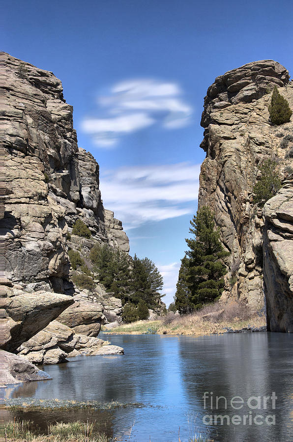 Devils Gate On The Sweetwater Photograph  - Devils Gate On The Sweetwater Fine Art Print