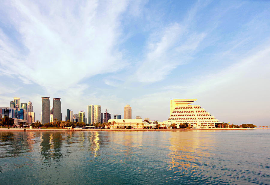 Doha Bay At Sunset Photograph  - Doha Bay At Sunset Fine Art Print