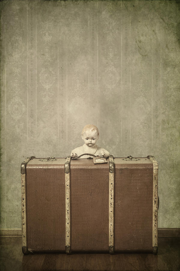 Doll In Suitcase Photograph  - Doll In Suitcase Fine Art Print