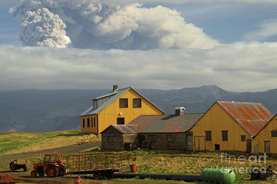 Eyjafjallaj�kull Ash Cloud, Iceland Photograph