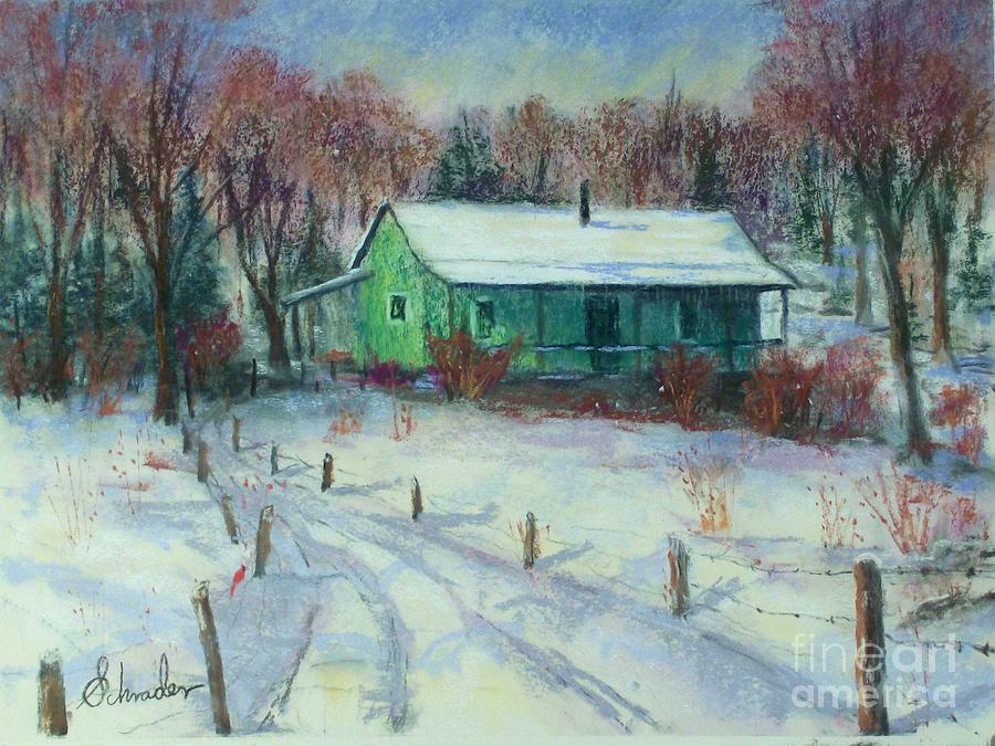 Landscape Pastel - First Snow by Bruce Schrader