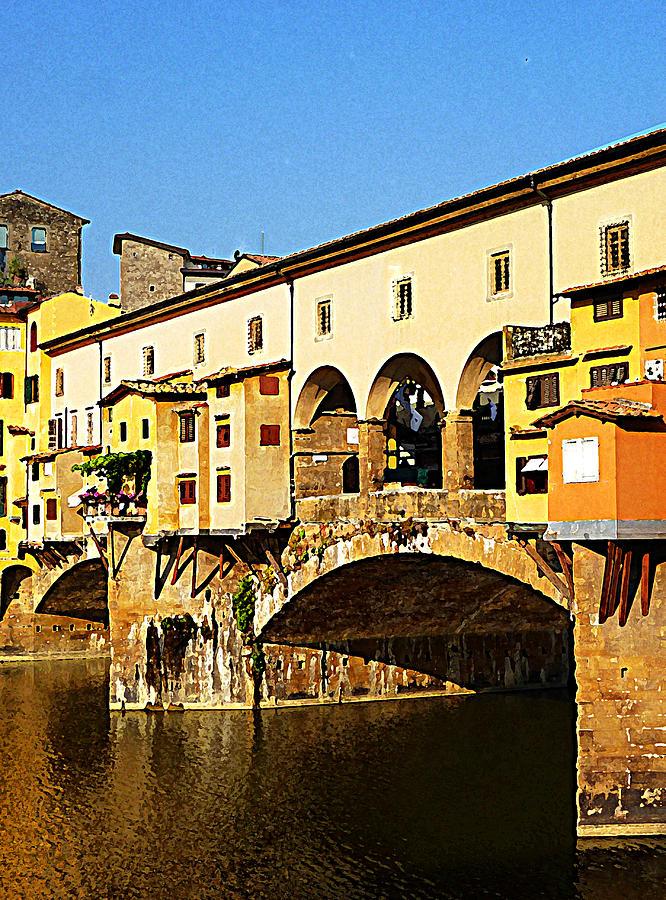 Italy Photograph - Florence Italy Ponte Vecchio by Irina Sztukowski
