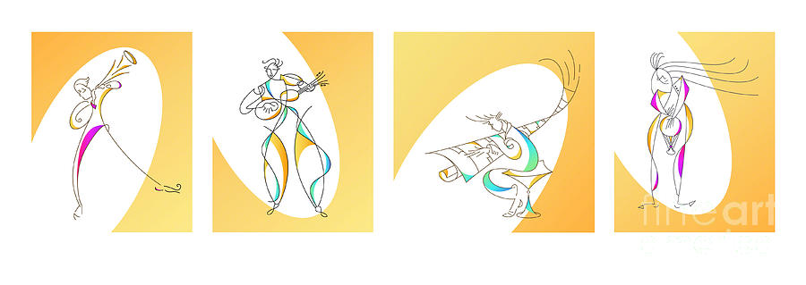 Four Musicians Drawing