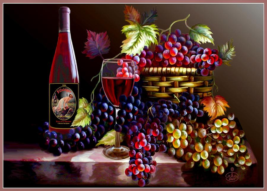 From Grapes To Wine Digital Art