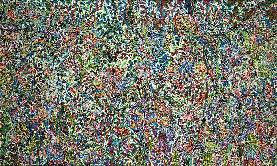 Peinture - fructification Bodies par Erika Pochybova