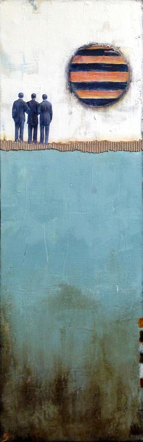 Abstract Mixed Media - Gaze by Susan McCarrell