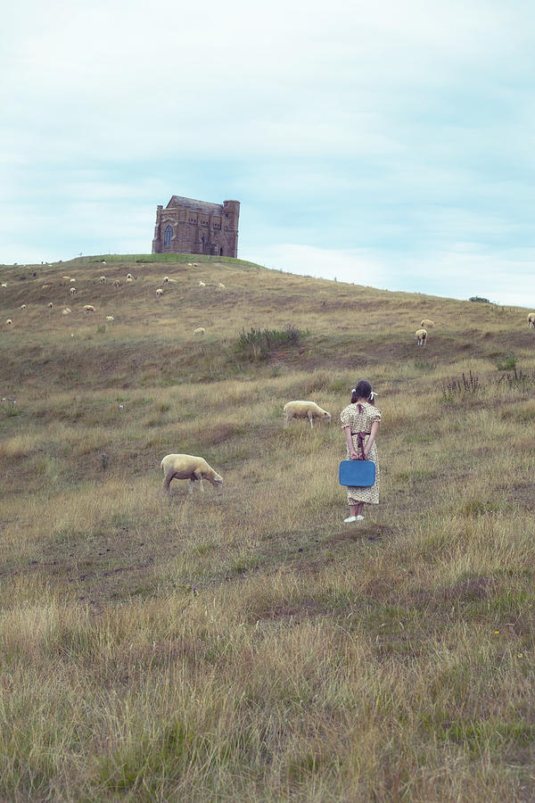 Girl Photograph - Girl With Sheeps by Joana Kruse