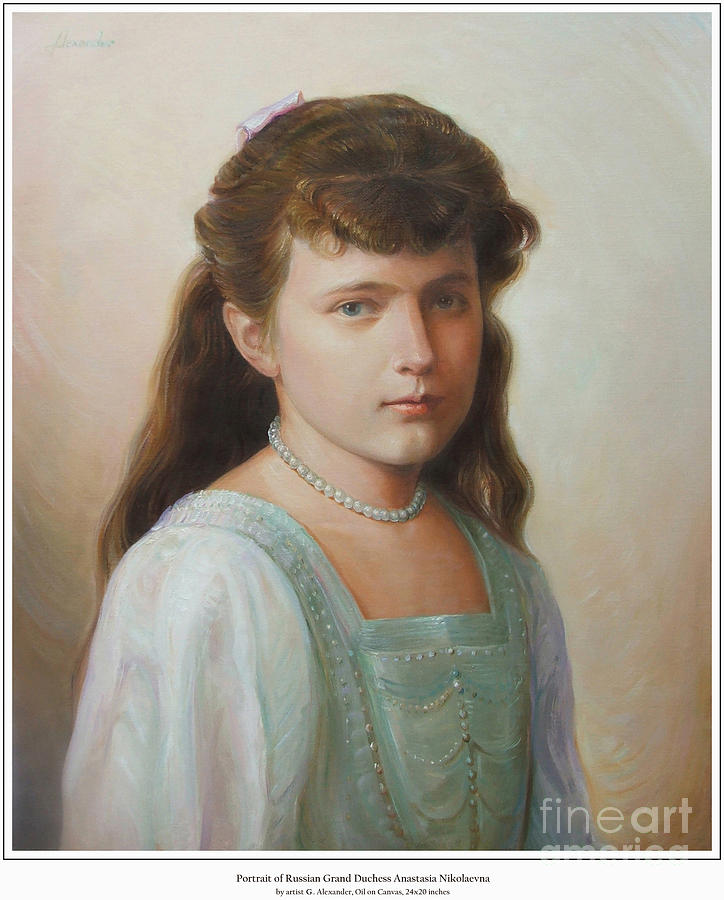 Grand Duchess Anastasia Nikolaevna Of Russia Painting