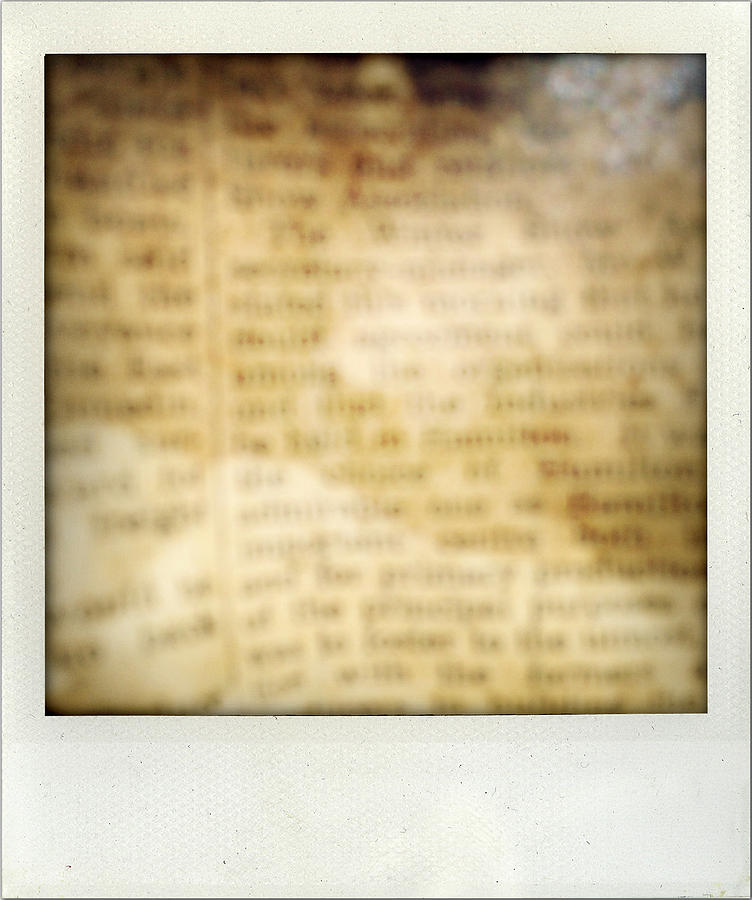Abstract Photograph - Grunge Newspaper by Les Cunliffe