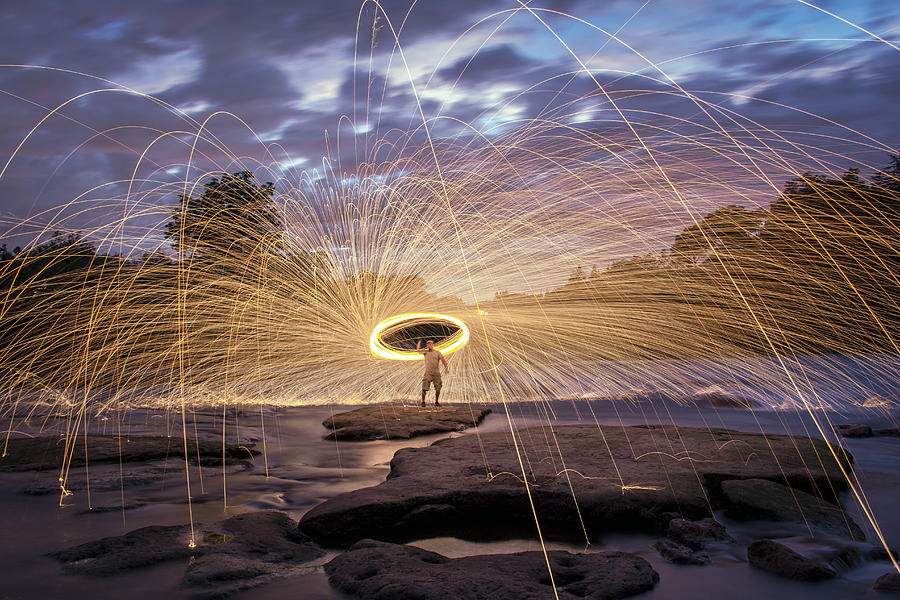 Halo On The American River Photograph