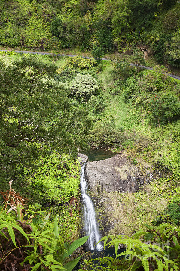 Hana Waterfall Photograph