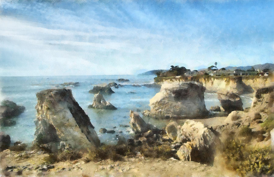 Hazy Lazy Day Pismo Beach California Digital Art - Hazy Lazy Day Pismo Beach California by Barbara Snyder