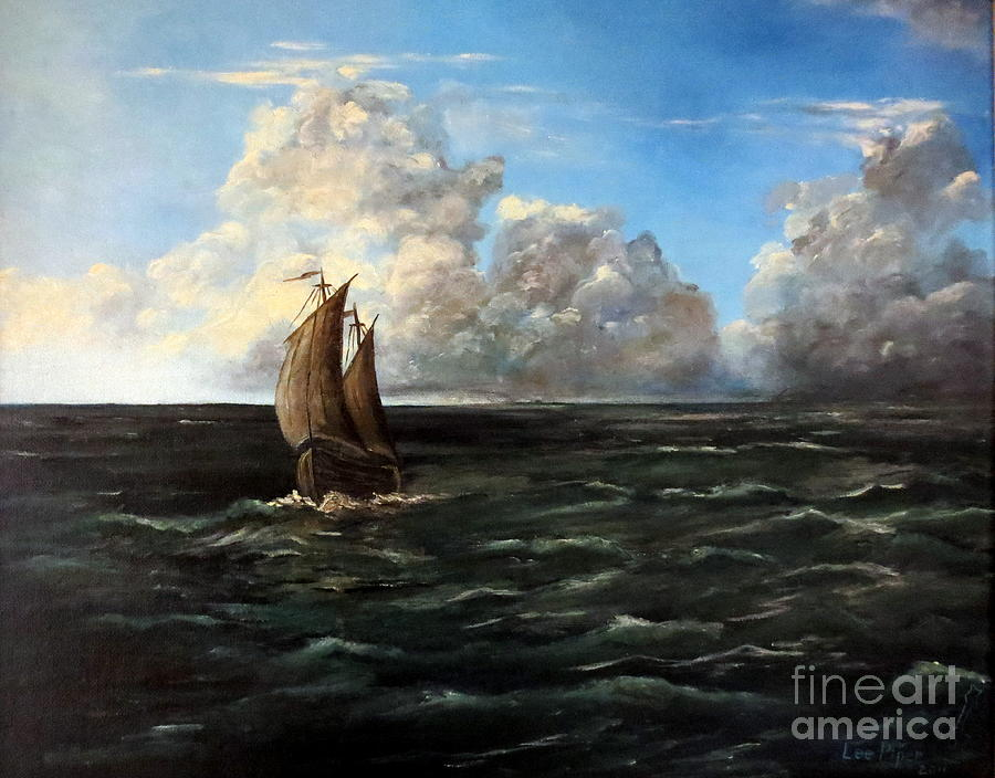 Heading For Shore Painting  - Heading For Shore Fine Art Print